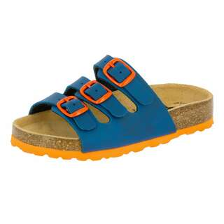 LICO Pantolette Bioline Kids - marine/orange 31